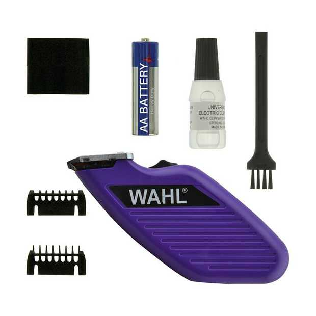 Wahl Pet Pocket Pro Battery Operated Hygiene Trimmer for Cats & Dogs - Purple