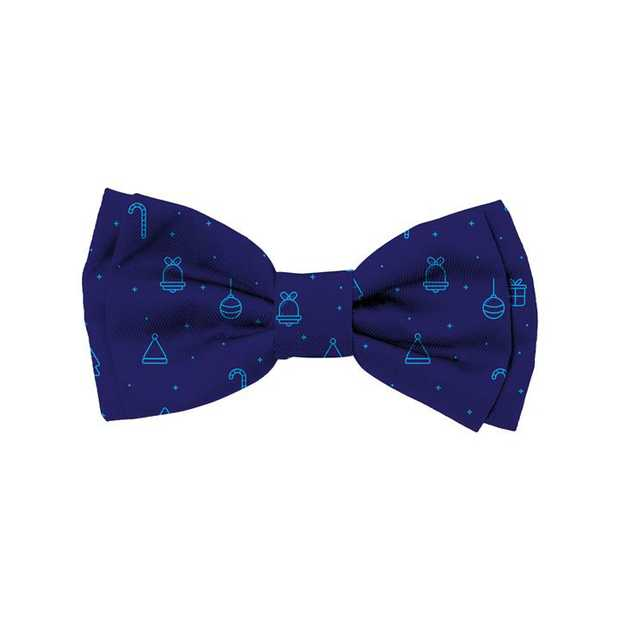 Fuzzyard Bowtie for Cats or Dogs - Christmas Blues - Small