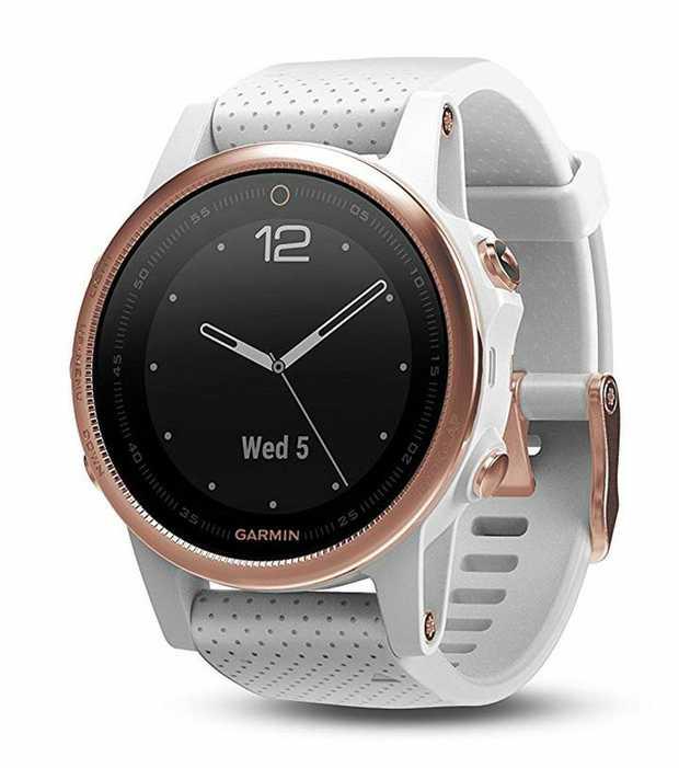 42mm multisport GPS watch Elevate™ wrist heart rate technology Scratch-resistant sapphire lens...