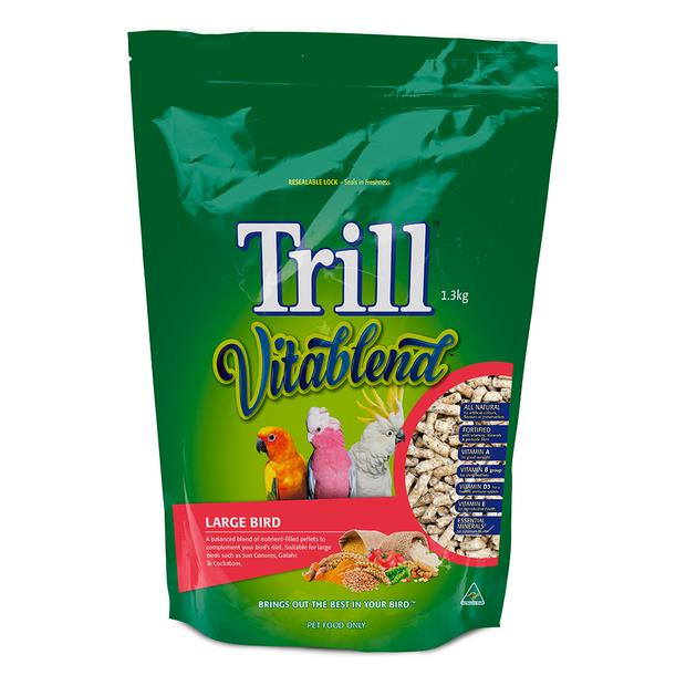 trill vitablend large bird pellets  1.3kg | Trill food | pet supplies| Product Information:...