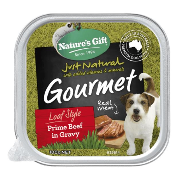 natures gift wet dog food adult prime beef and gravy  9 x 100g | Natures Gift dog food | pet supplies|...