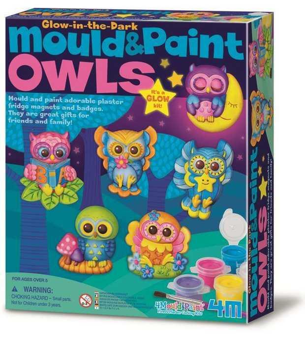 Mould & Paint Kit Owls