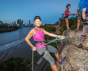 For an exciting sunset abseiling adventure in the heart of Brisbane. A great start to any evening...