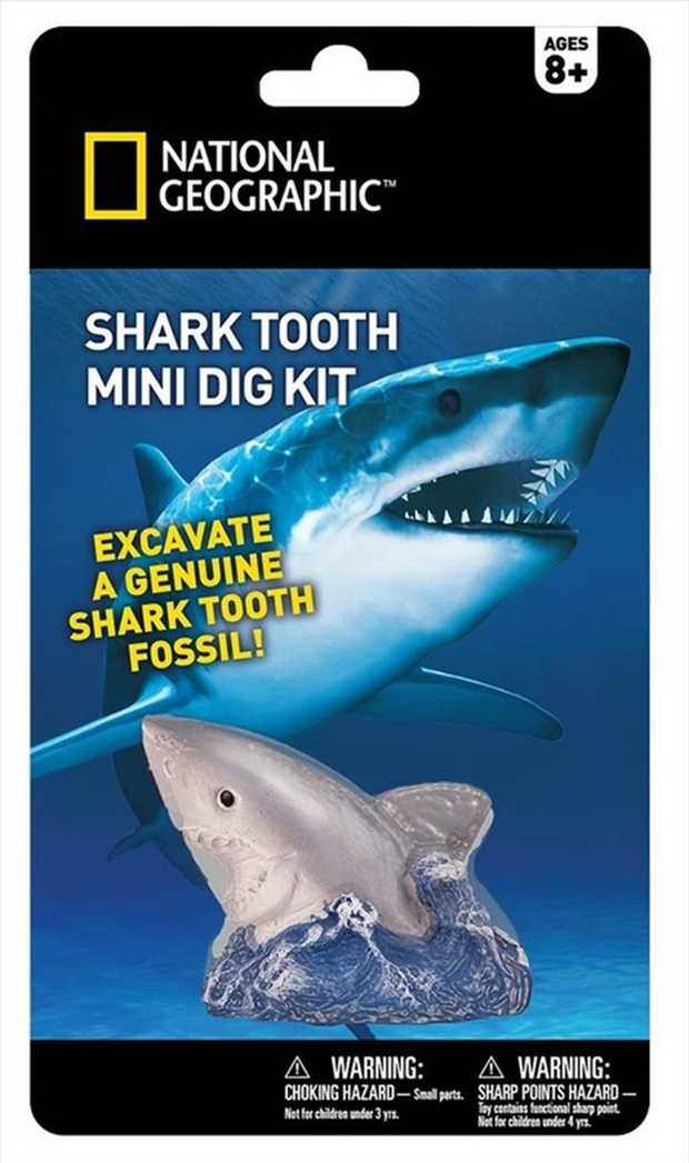 For curious kids who love discovering cool things, the Shark Tooth Mini Dig Kit from National...