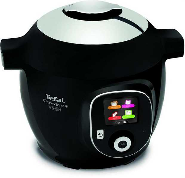 1450W Power Safety Lid Steam basket Full color LCD Display Black and Chrome Finish  Power: 1450  W...