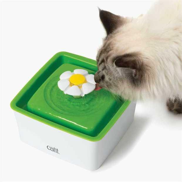 Catit 2.0 - Senses Flower Design Pet Cat Water Fountain Mini - 1.5 Litre
