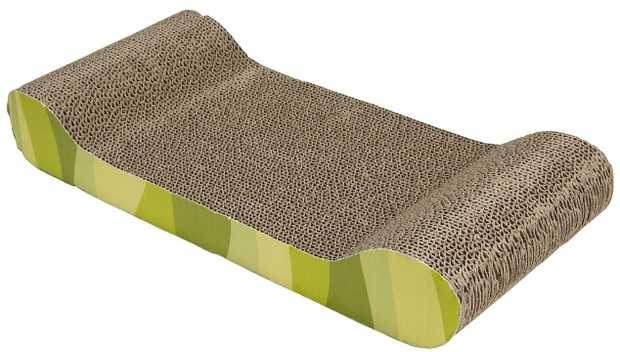 "Catit Cardboard Cat Scratch Lounger ""Jungle Stripe"""