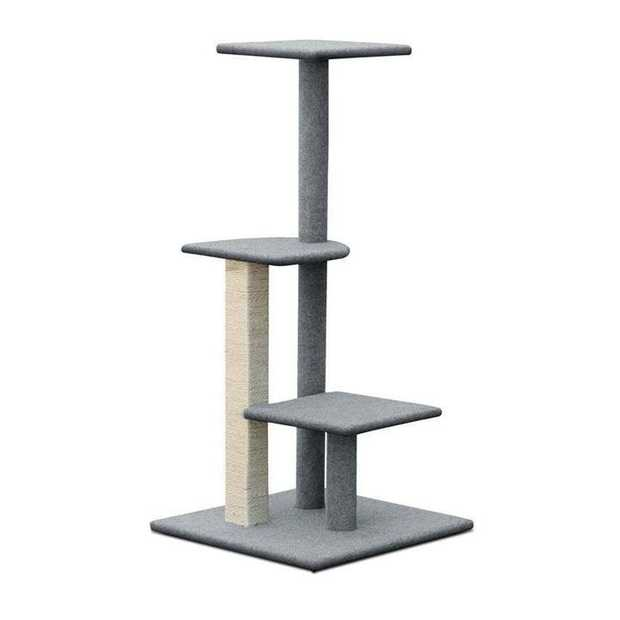 Cat Scratching Stepping Cat Tree with 3 Platforms - 124cm