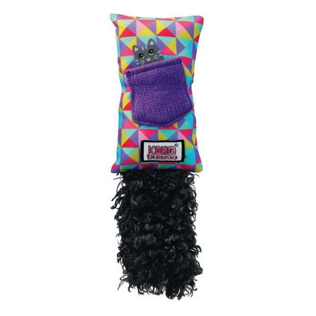 KONG Refillable Kickeroo Catnip Cat Toy with Long Fluffy Tail