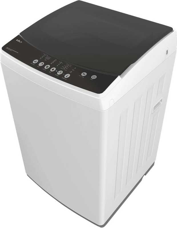 This white Solt top loader washer has the capacity to wash 5.5kg of dry laundry per load so you can...