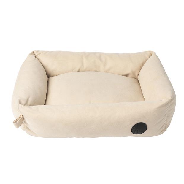 fuzzyard lounge dog bed almond cream  small | FuzzYard dog | pet supplies| Product Information:...
