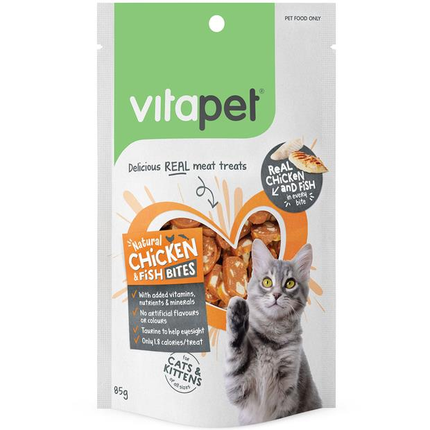 vitapet cat treats natural chicken and fish bites  85g | Vitapet cat treat&&litter; | pet supplies|...