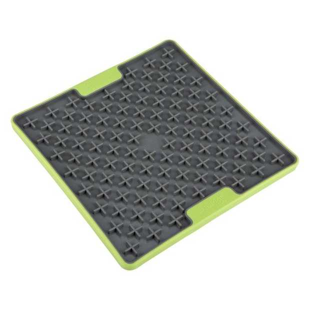 LickiMat Buddy Tuff Slow Food Mat Dog Bowl - Green