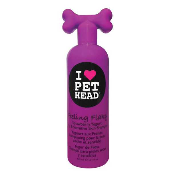 Pet Head Feeling Flaky Strawberry Dry & Sensitive Skin Dog Shampoo 475ml