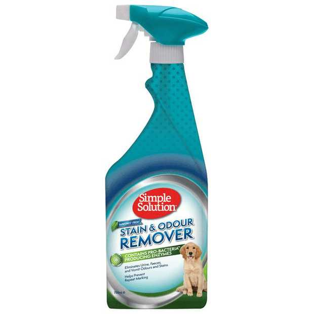 Simple Solution Dog Stain & Odour Remover Enzyme Spray - Rain Forest 750ml