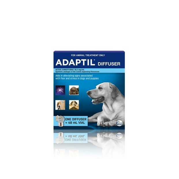 The Adaptil Dog Calm Home Diffuser and Refill  is a dog appeasing pheromone emitting diffuser...