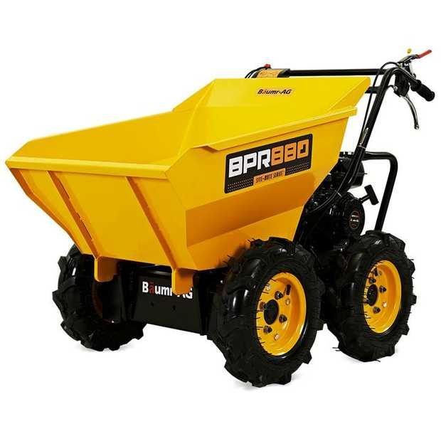 Introducing the Baumr-AG BPR880 Site-Mate Series Powered Wheelbarrow. Equipped with a powerful 196cc...