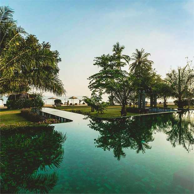 Escape to Hotel Tugu Lombok for a serene beachfront escape amid the white sands, aquamarine waters and...