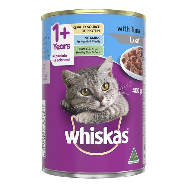 whiskas wet cat food adult 1 plus tuna loaf  24 x 400g | Whiskas cat food | pet supplies| Product...