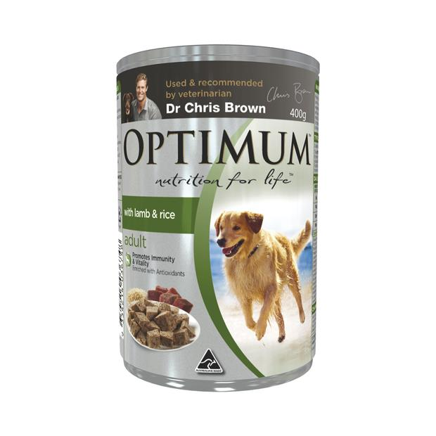 optimum adult lamb rice dog food  24 x 400g | Optimum dog food | pet supplies| Product Information:...