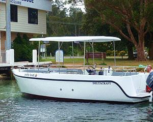 Pioneer your own adventure out on Lake Macquarie with your mates on board a BBQ boat. For four hours...