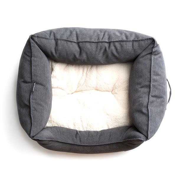 la doggie vita bed water resistant square charcoal  small | La Doggie Vita dog | pet supplies| Product...