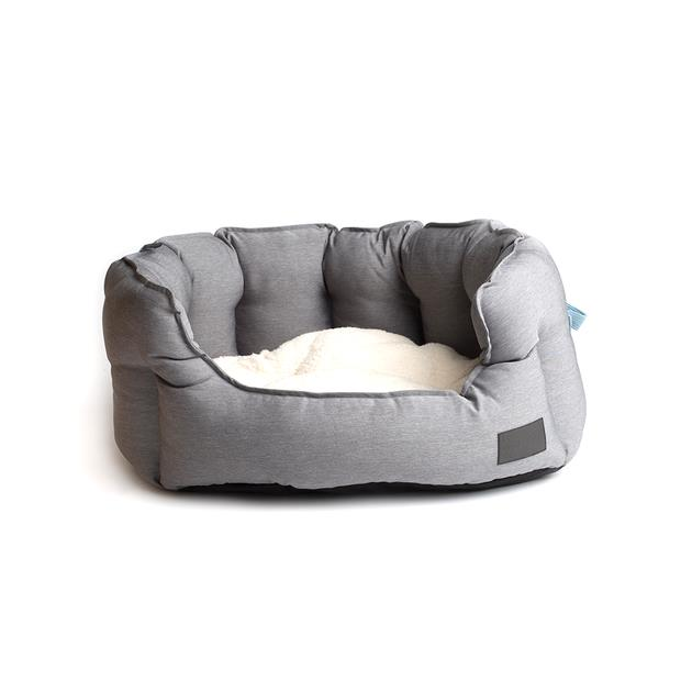 la doggie vita bed water resistant shell grey  medium | La Doggie Vita dog | pet supplies| Product...