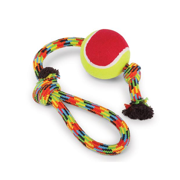 kazoo braided rope sling tennis ball dog toy  medium | Kazoo dog toy&accessories; | pet supplies|...