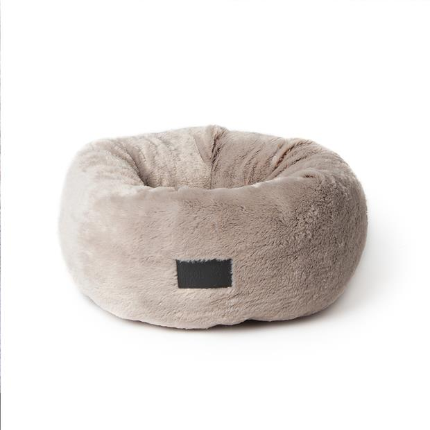 la doggie vita bed plush donut taupe  small | La Doggie Vita cat dog | pet supplies| Product...