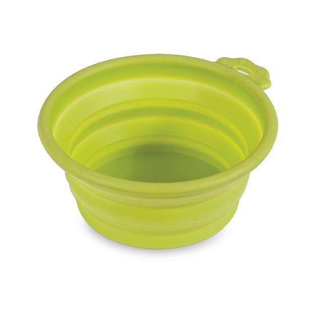 petmate silicone green travel bowl  1.5 cup | Petmate dog | pet supplies| Product Information:...