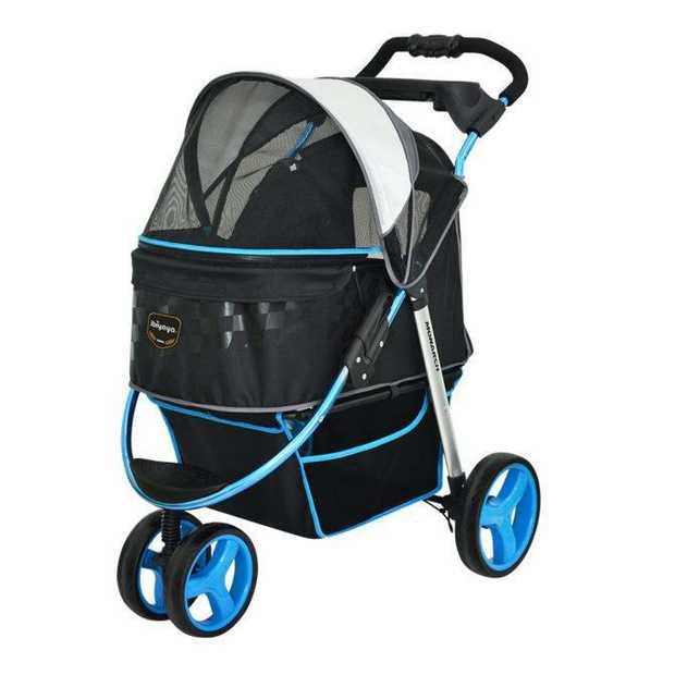 "Ibiyaya ""Monarch"" Premium Pet Jogger & Stroller- F1 Moto Blue"