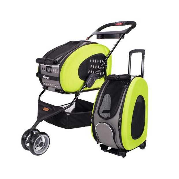 IBIYAYA 5-in-1 Combo EVA Pet Carrier & Stroller - Apple Green