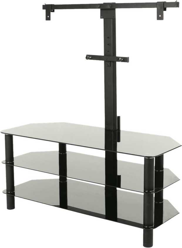 TV Stand with Bracket 1050mm Glass 3 Shelf