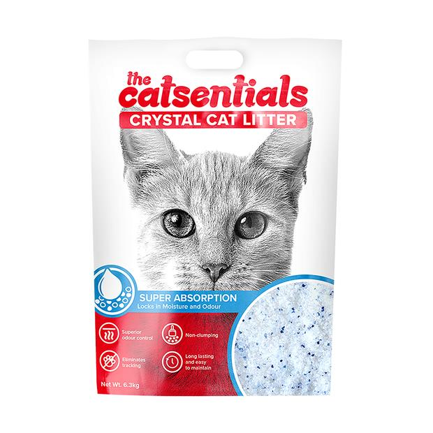 the catsentials crystal litter bag with handle  12.6kg | The Catsentials cat | pet supplies| Product...