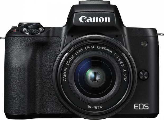 EOS M50 Body EF-M 15-45mm f/3.5-6.3 IS STM Lens 24.1 Megapixels 4K Time Lapse Movie Dual Pixel CMOS AF...