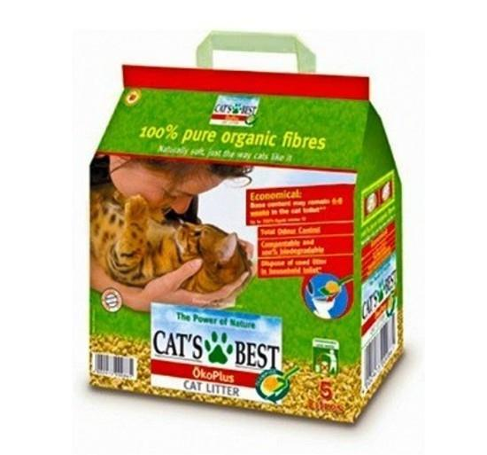Cat's Best Natural Plant Fibre Unscented Odour Reducing Clumping Cat Litter 4.3kg/10L