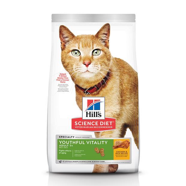 hills science diet senior 7 plus youthful vitality dry cat food  2.72kg | Hills Science Diet cat food |...
