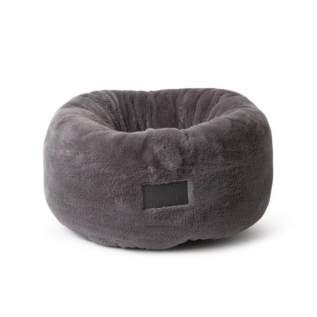 la doggie vita bed plush donut charcoal  small | La Doggie Vita cat dog | pet supplies| Product...