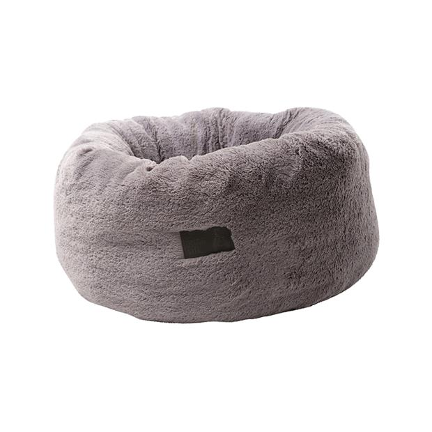 la doggie vita bed plush donut grey  medium | La Doggie Vita cat dog | pet supplies| Product...