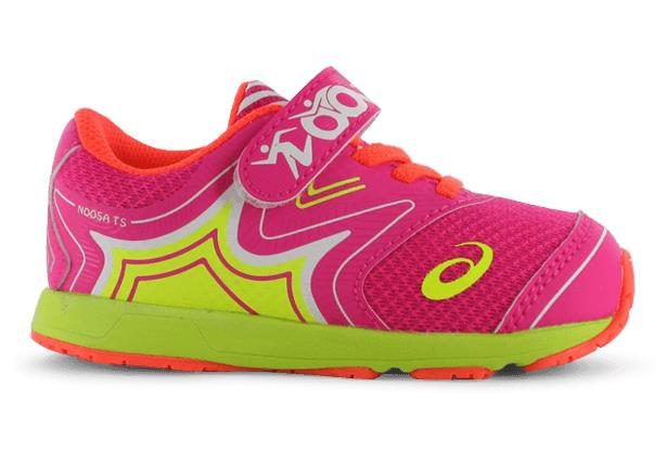 The Asics Kids Noosa TS is a lightweight and cushioned running shoe.
