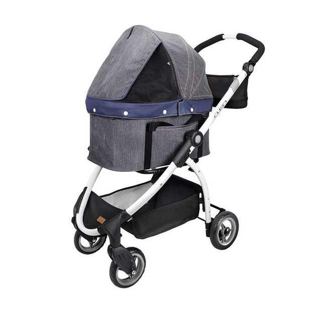 Ibiyaya CLEO Multifunction Pet Stroller & Car Seat Travel System in Denim