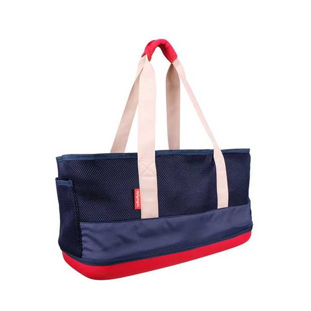 Ibiyaya Light Pet Carrier with Hardshell Base for Dachshunds & Long Pets - Navy
