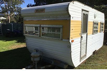 MILLARD caravan believed to be made around 1976 unregistered, needs some work. $2900. Middle...