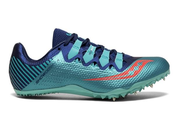 The fourth addition to the Showdown family continues to produce a premium sprinting shoe that features...