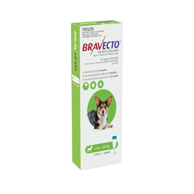 bravecto spot on for dogs green  1 pack | Bravecto dog Flea&Tick; Control | pet supplies| Product...