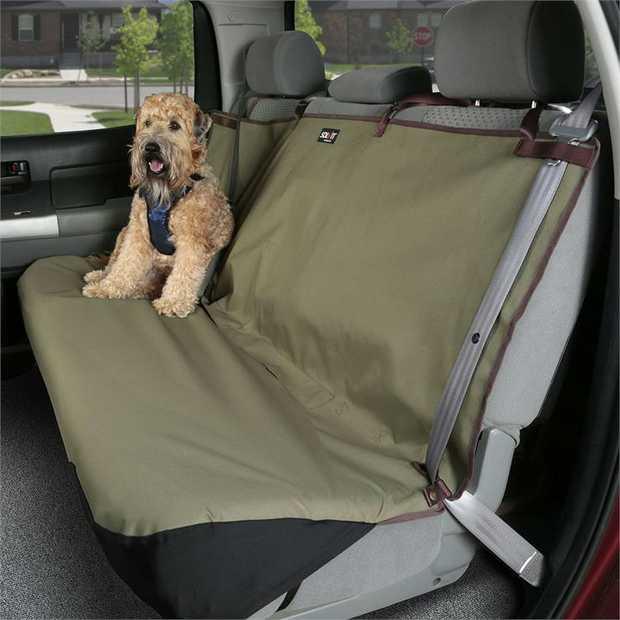 Happy Ride (Solvit) Waterproof Bench Seat Cover Back Seat Protector - Khaki Green