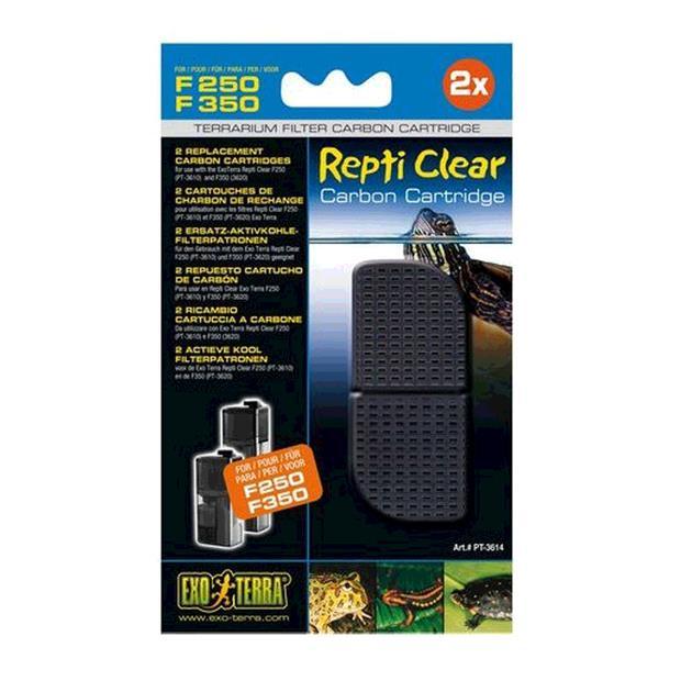 exo terra repti clear 250 350 carbon cartridge  each | Exo Terra | pet supplies| Product Information:...