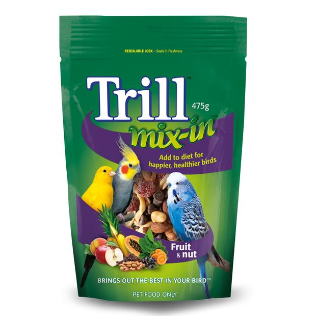 trill mix in fruit and nut blend  475g | Trill food | pet supplies| Product Information:...