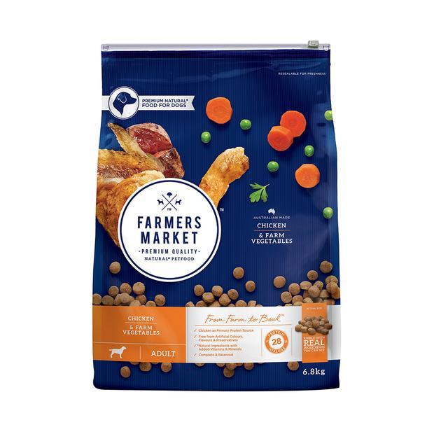 farmers market dry dog food adult chicken vegetables  6.8kg | Farmers Market dog food | pet supplies|...