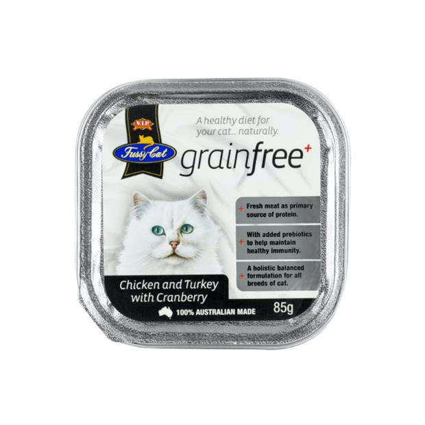 fussy cat grain free tray wet food adult chicken and turkey with cranberry  9 x 85g | Fussy Cat cat...